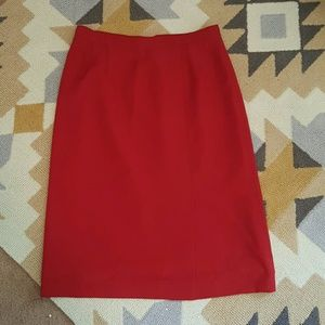 Dresses & Skirts - Red pencil skirt